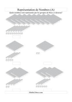 Représentation de nombres -- Unités, dizaines et centaines (A)