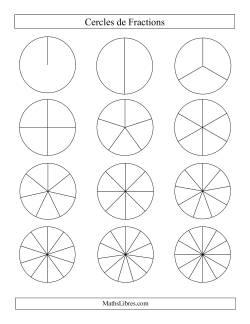 Cercles de Fractions Non-Étiquetés