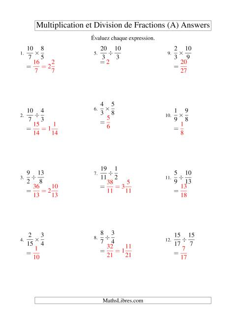 Multiplication et division de fractions a multiplication et division de fractions a page 2 altavistaventures Choice Image