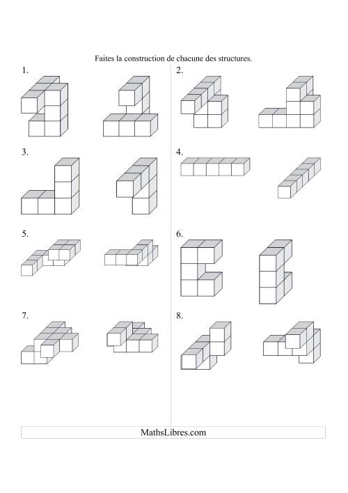 Construction de structures de cubes (D)
