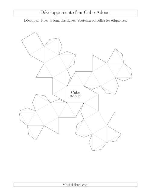 La Développement d'un Cube Adouci Fiche d'Exercices sur la Géométrie