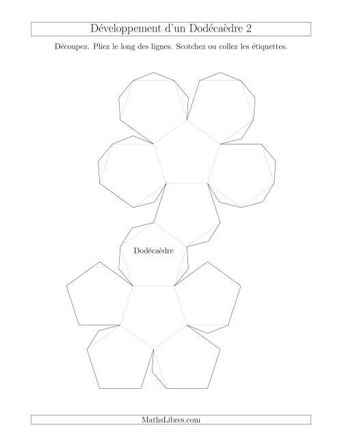 La Développement d'un Dodécaèdre Version 2 Fiche d'Exercices sur la Géométrie