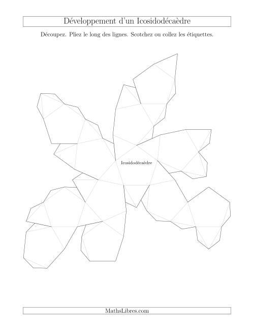 La Développement d'un Icosidodécaèdre Fiche d'Exercices sur la Géométrie