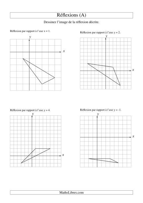 La Réflexion de figures à 3 sommets (A) Fiche d'Exercices sur la Géométrie