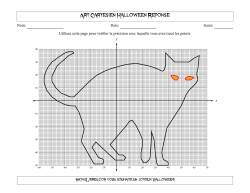 Art Cartésien Halloween -- Chat Noir