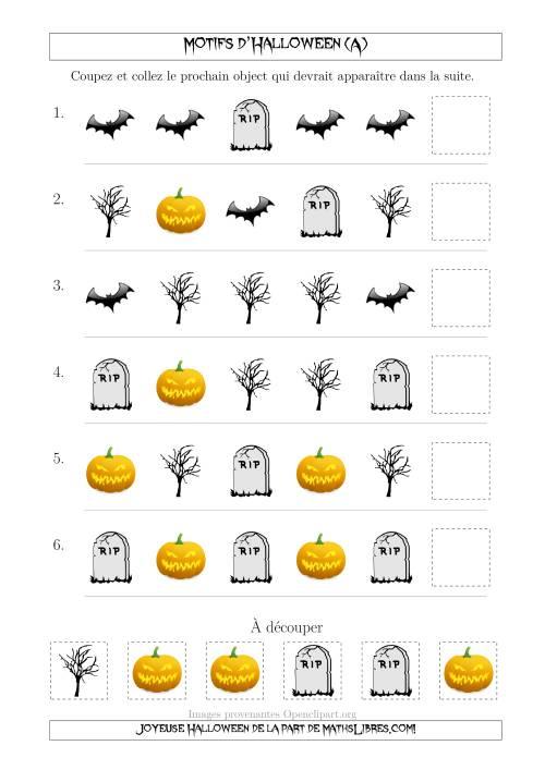 La Images de Motifs d'Halloween Effrayants avec une Seule Particularité (Forme) (A) Fiche d'Exercices pour l'Halloween