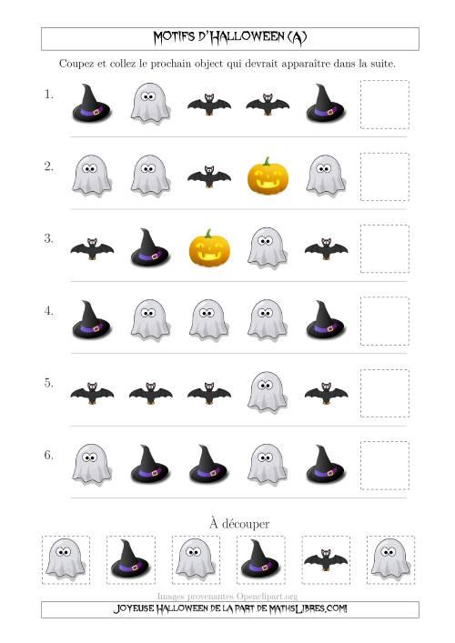 La Images de Motifs d'Halloween Pas Très Effrayants avec une Seule Particularité (Forme) (A) Fiche d'Exercices pour l'Halloween