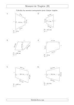 Calcul de la base et l 39 aire des trap zes h fiches d for Calcul classe energetique maison