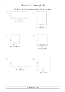 Calcul du perim tre longueur ou largeur des rectangles for Calcul classe energetique maison