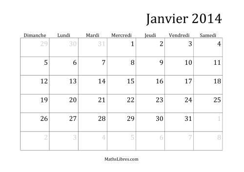 La Calendrier mensuel 2014 Fiche d'Exercices sur la Mesure
