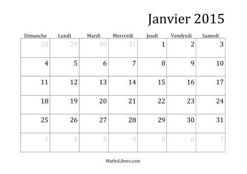 La Calendrier mensuel 2015 Fiche d'Exercices sur la Mesure