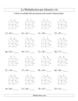 Fiches D Exercices Sur La Multiplication