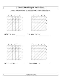 Multiplication par Jalousies -- 5-chiffres × 5-chiffres (A)