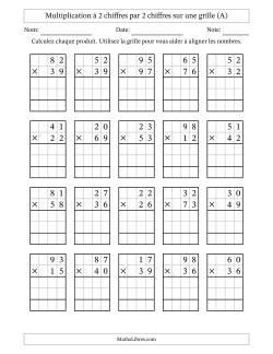 Fiches d'Exercices sur la Multiplication Posée