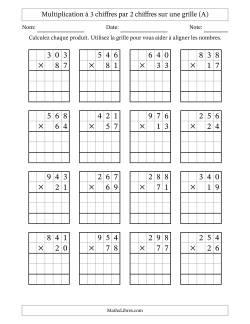 Fiches D Exercices Sur La Multiplication Posee