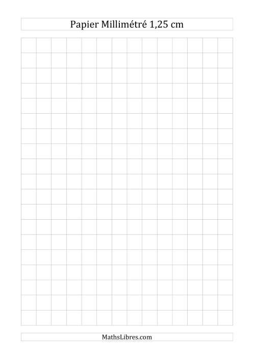 La Papier millimétré 1,25cm (gris) Papier à Graphique