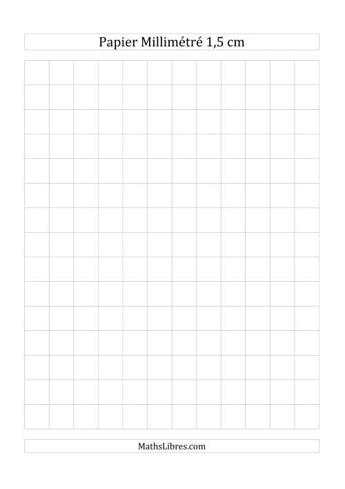 La Papier millimétré 1,5cm (gris) Papier à Graphique