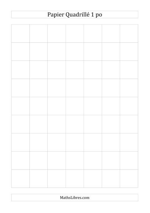 La Papier quadrillé 1 unité par pouce (gris) Papier à Graphique