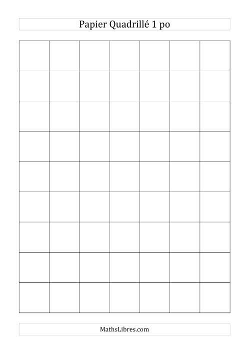 La Papier quadrillé 1 unité par pouce (noir) Papier à Graphique