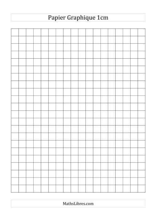 La Papier millimétré 1cm (noir) Papier à Graphique