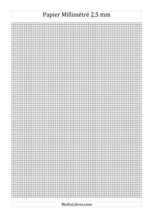 La Papier millimétré 2,5mm (noir) Papier à Graphique