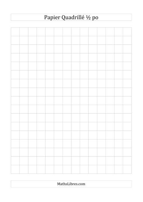 La Papier quadrillé 2 unités par pouce (gris) Papier à Graphique
