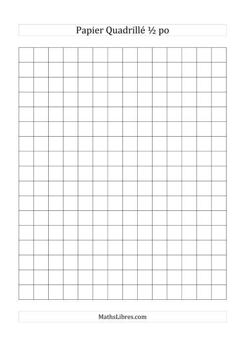 La Papier quadrillé 2 unités par pouce (noir) Papier à Graphique