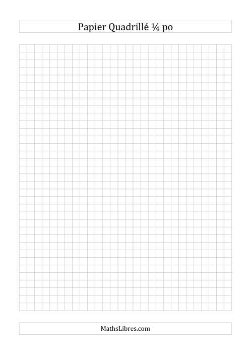La Papier quadrillé 4 unités par pouce (gris) Papier à Graphique