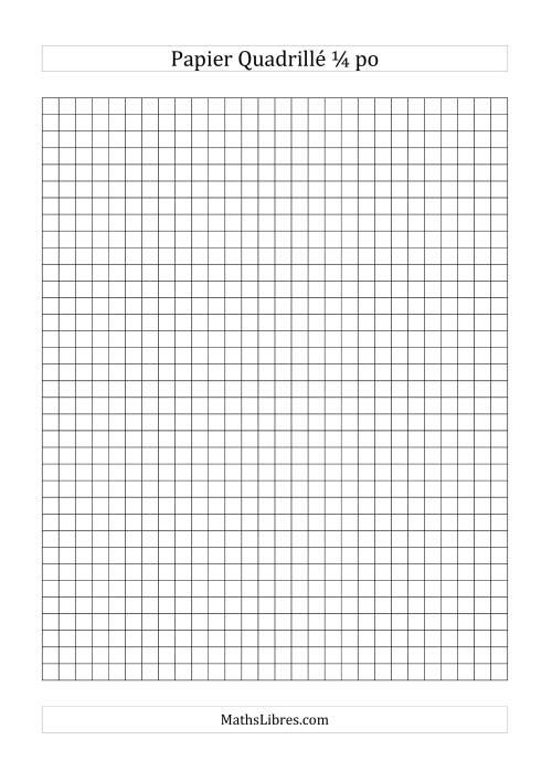La Papier quadrillé 4 unités par pouce (noir) Papier à Graphique