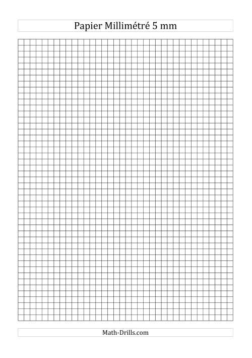 La Papier millimétré 5mm (noir) Papier à Graphique