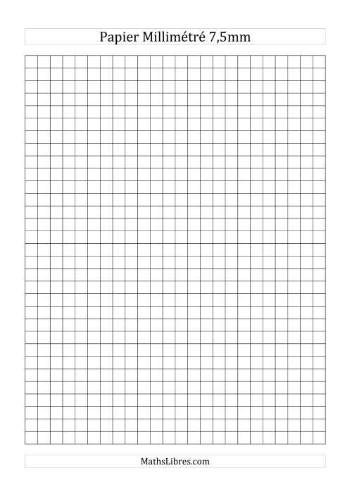 La Papier millimétré 7,5mm (noir) Papier à Graphique