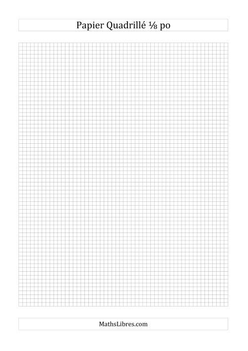 La Papier quadrillé 8 unités par pouce (gris) Papier à Graphique