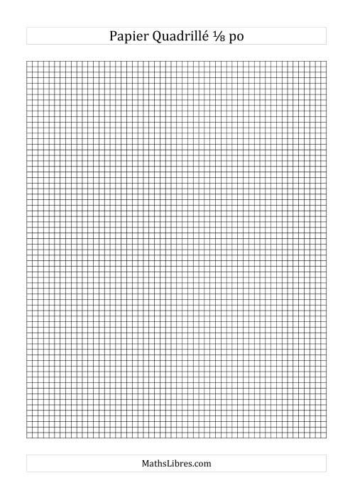 La Papier quadrillé 8 unités par pouce (noir) Papier à Graphique