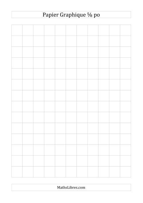 La Papier quadrillé 5/8 pouce (gris) Papier à Graphique