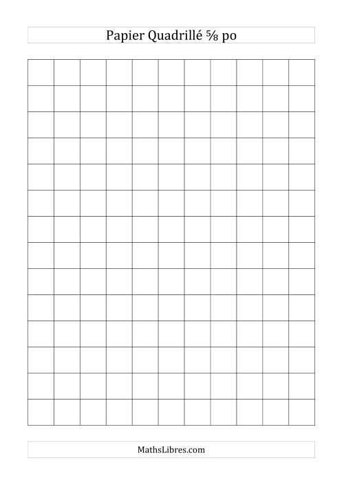 La Papier quadrillé 5/8 pouce (noir) Papier à Graphique