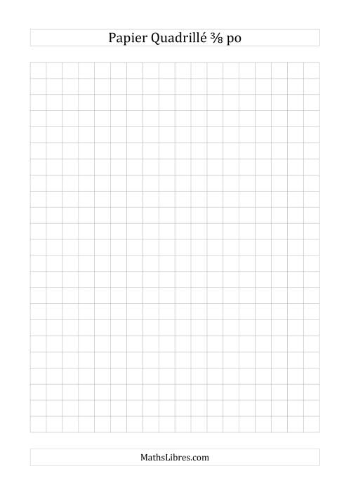 La Papier quadrillé 3/8 pouce (gris) Papier à Graphique