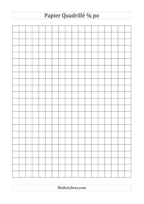 La Papier quadrillé 3/8 pouce (noir) Papier à Graphique