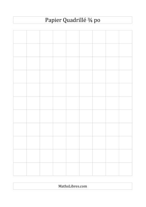 La Papier quadrillé 3/4 pouce (gris) Papier à Graphique