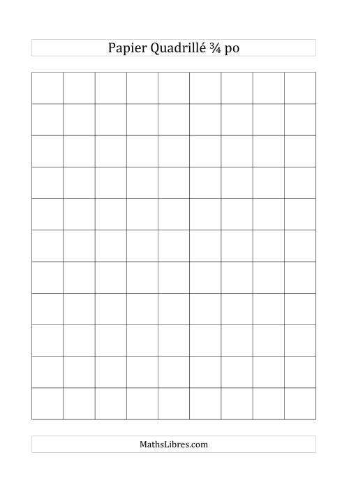 La Papier quadrillé 3/4 pouce (noir) Papier à Graphique