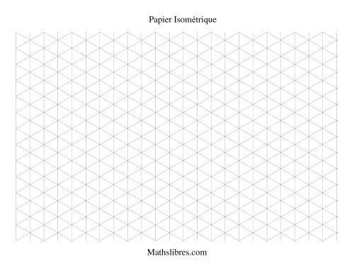 La Papier isométrique -- Paysage (large) Papier à Graphique
