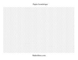Papier isométrique -- Paysage (petit)