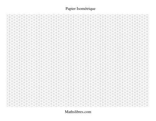 La Papier isométrique -- Paysage (petit) Papier à Graphique
