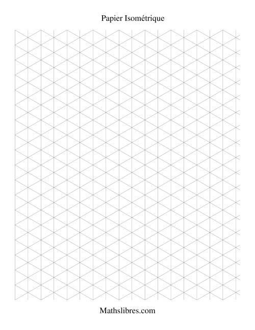 La Papier isométrique -- Portrait (large) Papier à Graphique