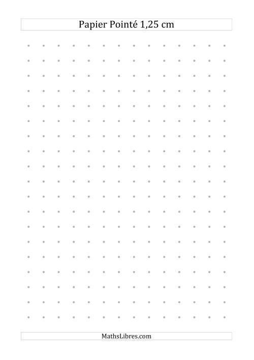 La Papier pointé métrique 1,25cm (gris) Papier à Graphique