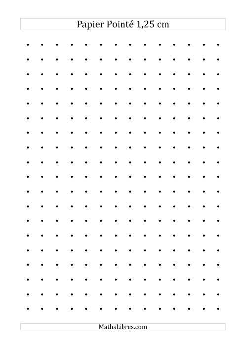 La Papier pointé métrique 1,25cm (noir) Papier à Graphique