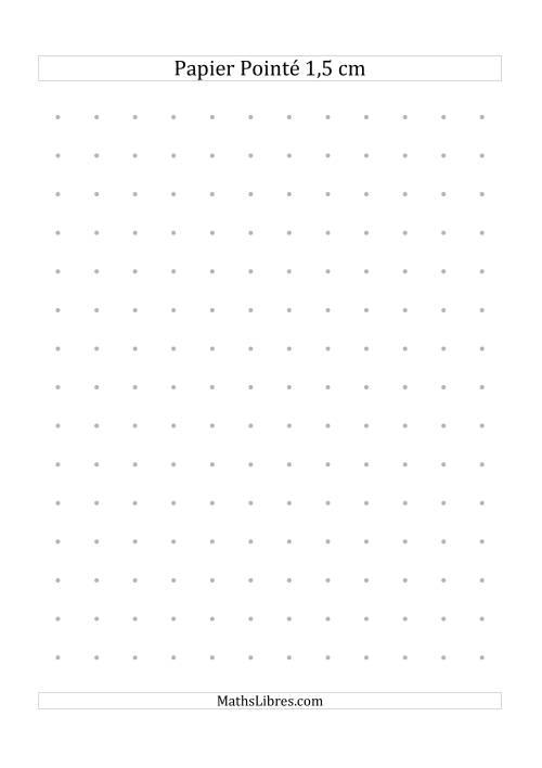 La Papier pointé métrique 1,5cm (gris) Papier à Graphique