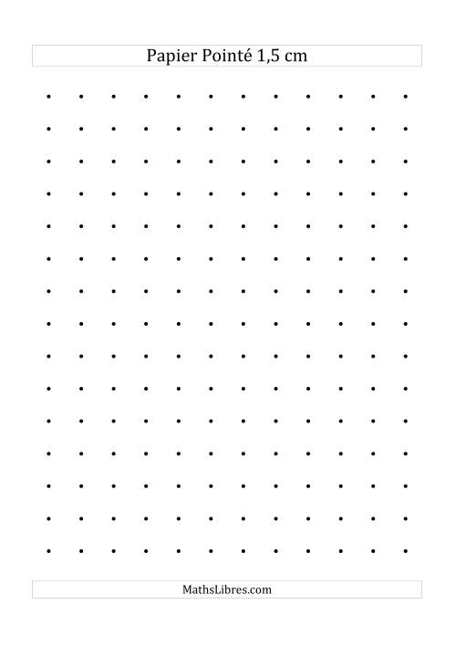 La Papier pointé métrique 1,5cm (noir) Papier à Graphique