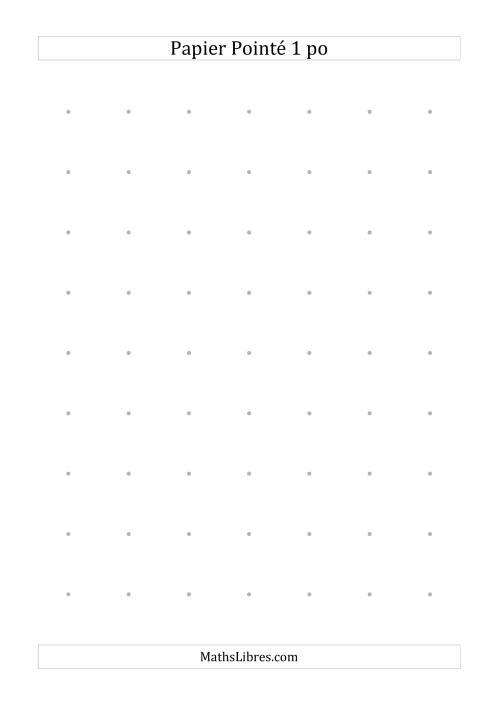 La Papier pointé impérial 1 point par pouce (gris) Papier à Graphique