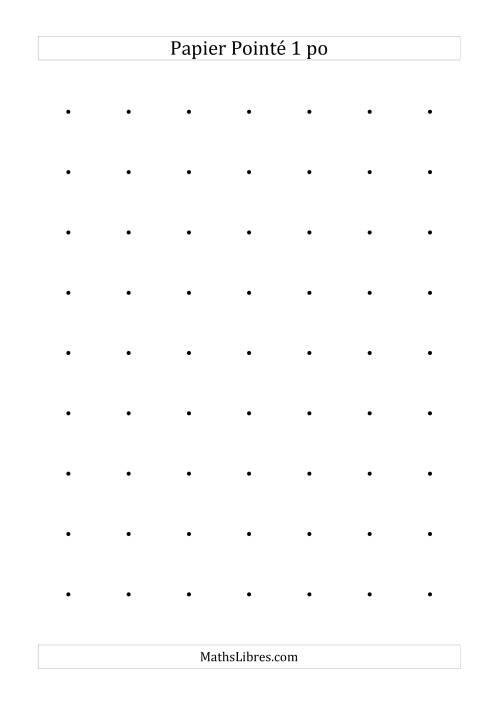 La Papier pointé impérial 1 point par pouce (noir) Papier à Graphique