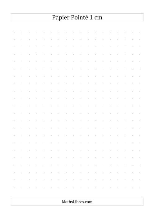 La Papier pointé métrique 1cm (gris) Papier à Graphique